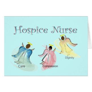 Diseño de los ángeles de la enfermera 3 del hospic tarjeta de felicitación