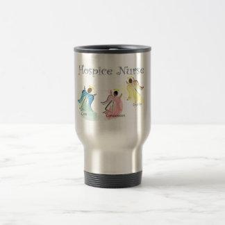 Diseño de los ángeles de la enfermera 3 del hospic taza de viaje de acero inoxidable