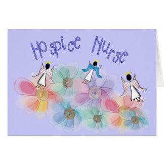 Diseño de los ángeles de la enfermera WHISPY del h Tarjeta De Felicitación