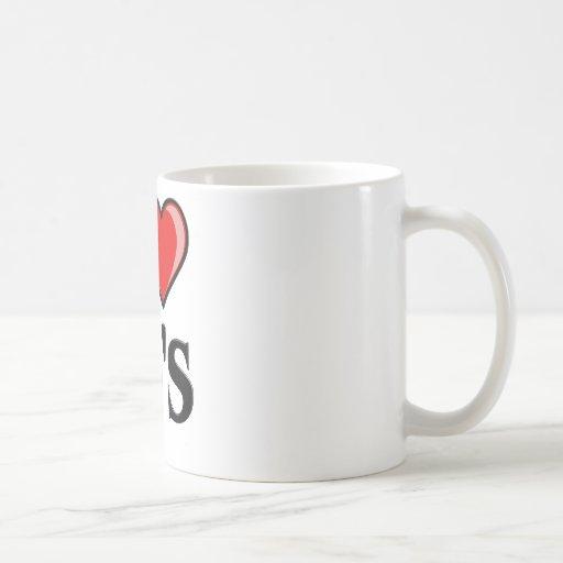 Diseño de los años 80 del corazón I Tazas