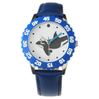 Diseño de los auriculares de la orca para los relojes de pulsera