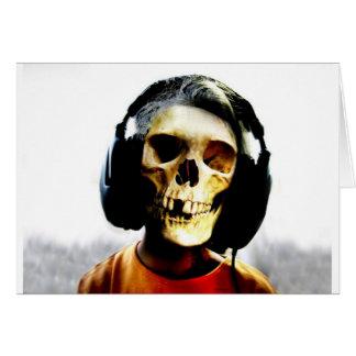 Diseño de los auriculares del niño del cráneo - Ge Felicitación