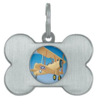 Diseño de los aviones del vintage placas mascota