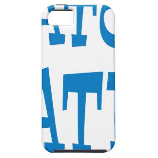 Diseño de los azules claros del enemigo del cocodr iPhone 5 Case-Mate carcasas