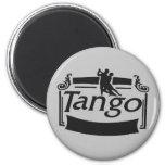 ¡Diseño de los bailarines del tango! Imán Redondo 5 Cm