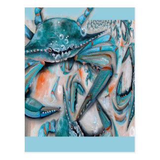 Diseño de los cangrejos azules tarjeta postal