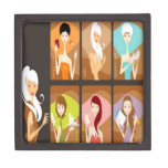 Diseño de los chicas de la belleza cajas de regalo de calidad