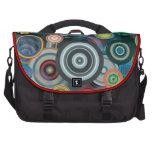 Diseño de los círculos bolsas de portatil