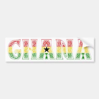 ¡Diseño de los colores de Ghana! Pegatina Para Auto