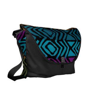 diseño de los colores del pavo real bolsas de mensajería