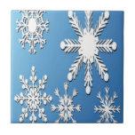 Diseño de los copos de nieve azulejos cerámicos