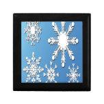 Diseño de los copos de nieve caja de regalo