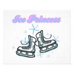 diseño de los copos de nieve de los príncipes del  tarjetas informativas