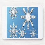 Diseño de los copos de nieve alfombrilla de ratones