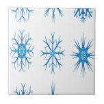 Diseño de los copos de nieve tejas  ceramicas
