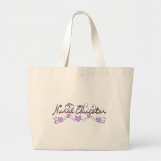 Diseño de los corazones del rosa del educador de l bolsa de mano
