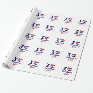 Diseño de los croatas papel de regalo