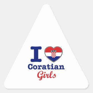 Diseño de los croatas pegatina triangular
