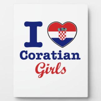 Diseño de los croatas placas para mostrar