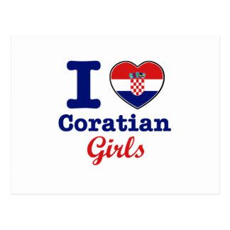 Diseño de los croatas tarjetas postales