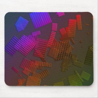 Diseño de los cuadrados del arco iris tapetes de ratones