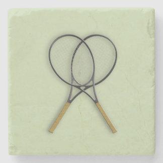 Diseño de los deportes de las estafas de tenis posavasos de piedra
