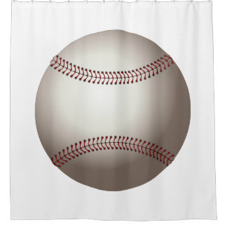 Diseño de los deportes del béisbol cortina de baño