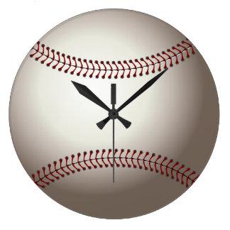 Diseño de los deportes del béisbol reloj redondo grande