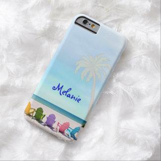 DISEÑO de los días de la playa del verano del caso Funda De iPhone 6 Barely There