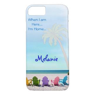 DISEÑO de los días de la playa del verano del caso Funda iPhone 7