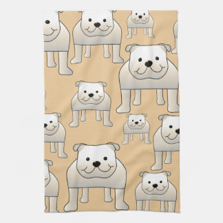Diseño de los dogos, en colores neutrales toalla de cocina