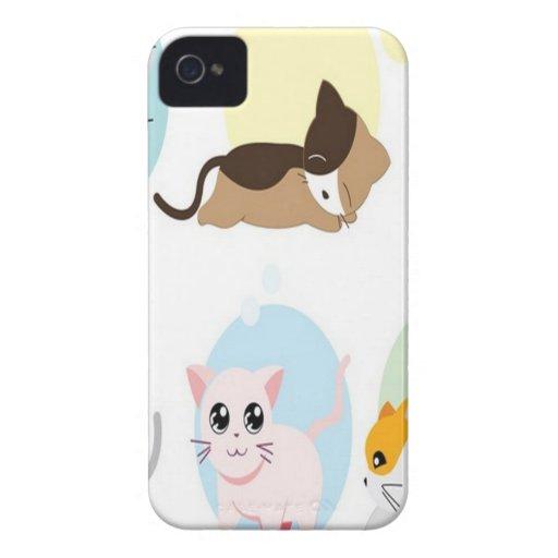 Diseño de los gatitos del vector Case-Mate iPhone 4 coberturas