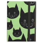 Diseño de los gatos en negro y verde