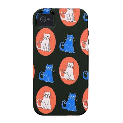 Diseño de los gatos iPhone 4 funda