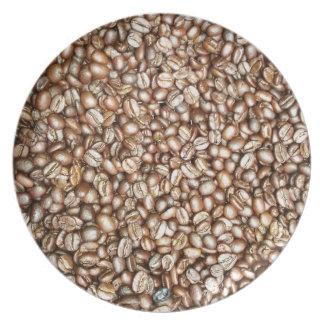 Diseño de los granos de café de Brown Plato