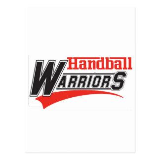 Diseño de los guerreros del balonmano tarjetas postales
