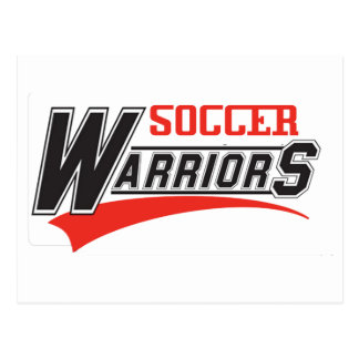 diseño de los guerreros del fútbol tarjeta postal
