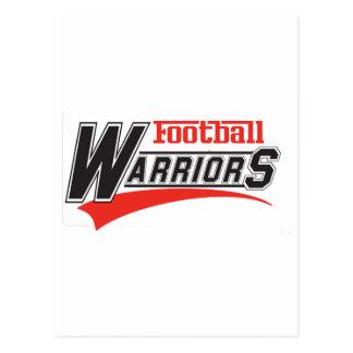diseño de los guerreros del fútbol tarjetas postales