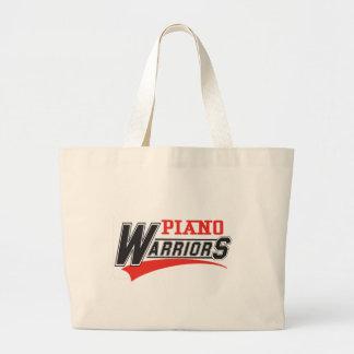 Diseño de los guerreros del piano bolsa tela grande