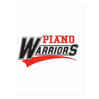 Diseño de los guerreros del piano tarjetas postales