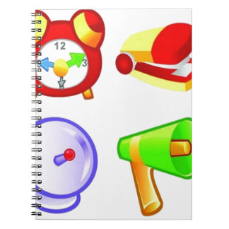 Diseño de los iconos del negocio de la oficina cuadernos
