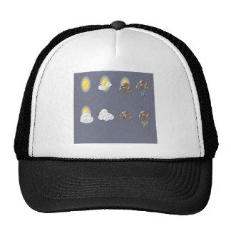Diseño de los iconos del tiempo gorra