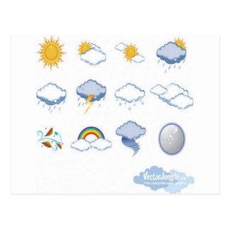 Diseño de los iconos del tiempo postal