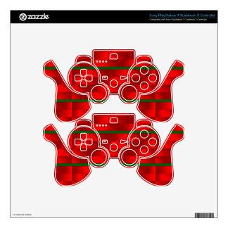 Diseño de los ladrillos de Santa en piel del Calcomanía Para Mando PS3
