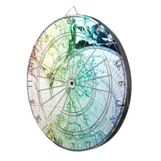 Diseño de los mapas del arco iris del vintage