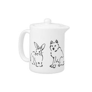 Diseño de los mascotas: Gato, conejito, perro, bos