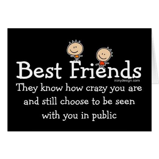Diseño de los mejores amigos tarjeta de felicitación