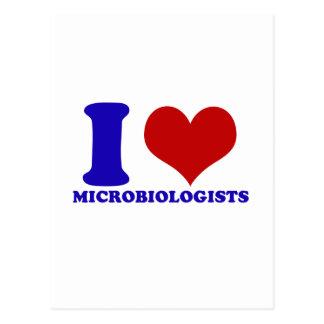 diseño de los microbiólogos postal