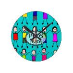 Diseño de los niños del palillo de la enfermera de reloj