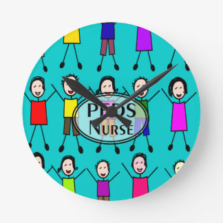 Diseño de los niños del palillo de la enfermera de reloj redondo mediano
